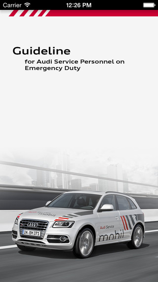Audi Emergency Service guidelines