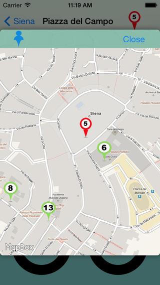 Siena Giracittà - Audioguida iPhone Screenshot 3