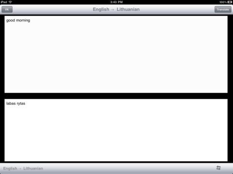English Lithuanian Translator iPad Screenshot 1