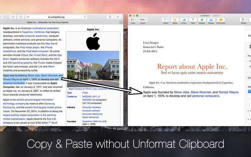 Unformat Clipboard Screenshot - 2
