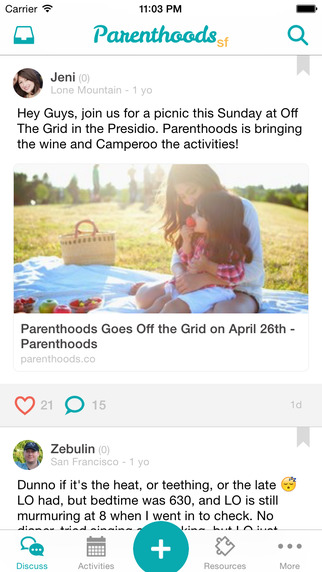Parenthoods - a community of San Francisco parents navigating parenthood
