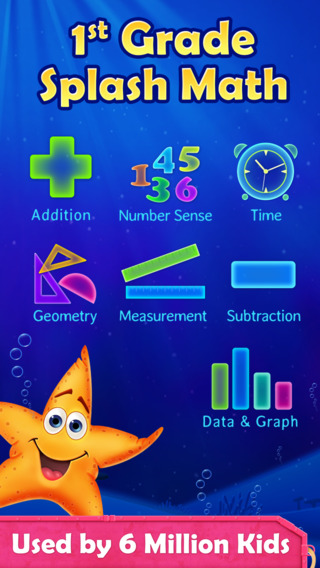 1st Grade Math: Splash Math Worksheets App for Num