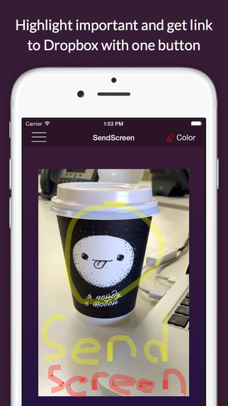SendScreen - send screenshot or photo just with one button
