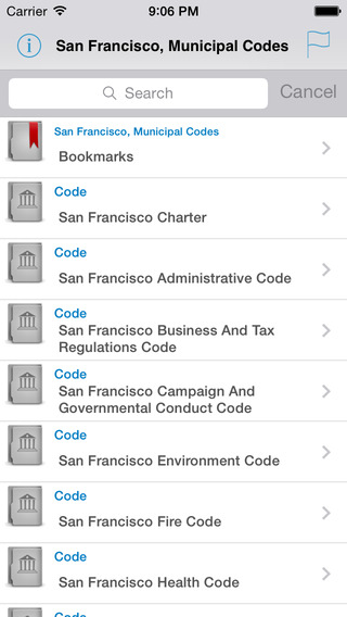 San Francisco Municipal Codes