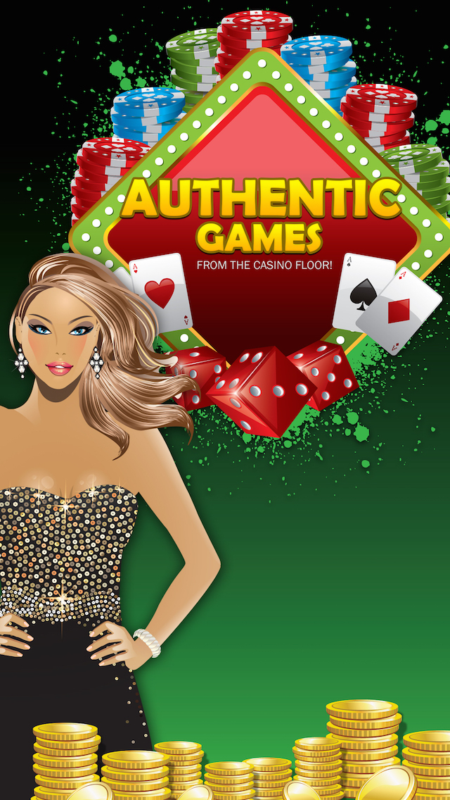 Authentic games from the Casino floor!