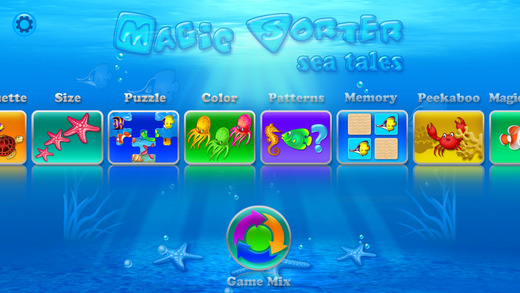 Magic Sorter - Sea Tales - 10 in 1 - to develop important cognitive and fine motor skills