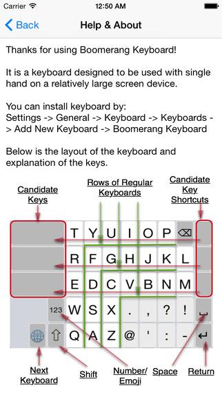 Boomerang Keyboard