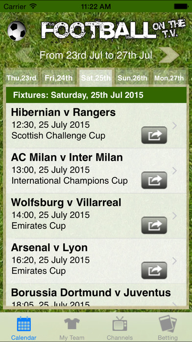 Football on the TV iPhone Screenshot 2