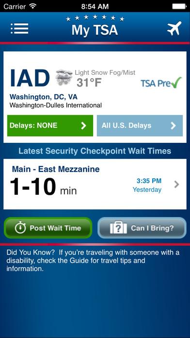 My TSA iPhone Screenshot 1