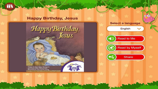 Happy Birthday Jesus - Read along interactive Christmas eBook in English for children with puzzles a