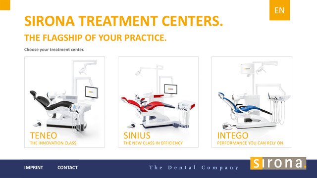 Sirona Treatment Centers for iPhone