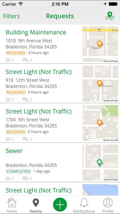 Bradenton PublicStuff iPhone Screenshot 4