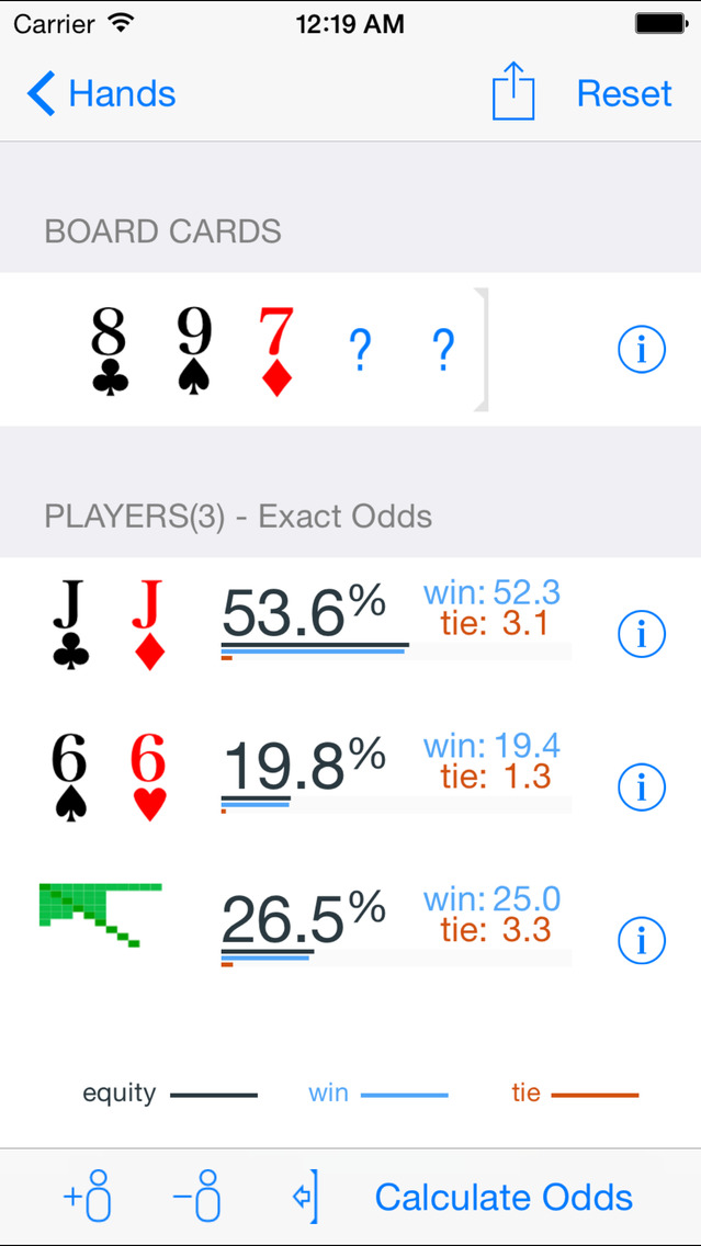 Screenshot 1 Poker Odds Pro