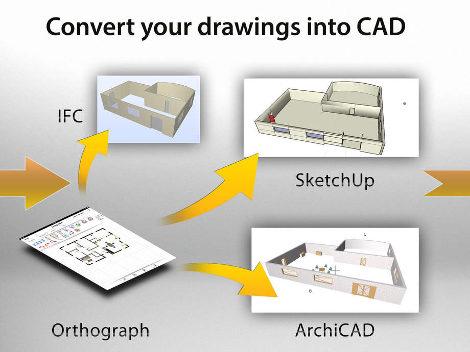 Orthograph architect 3d cad ifc floor plan on ipad home for Home design 3d ipad ideas