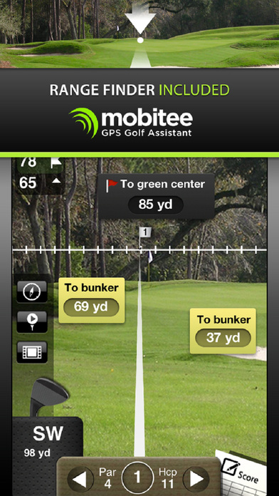 Mobitee Golf GPS iPhone Screenshot 1