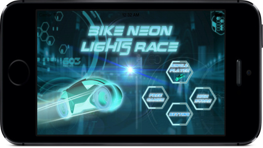 Neon Lights Race : Electronic Moto Chase War
