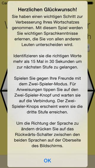 Vocabulary Trainer: German - Korean iPhone Screenshot 5