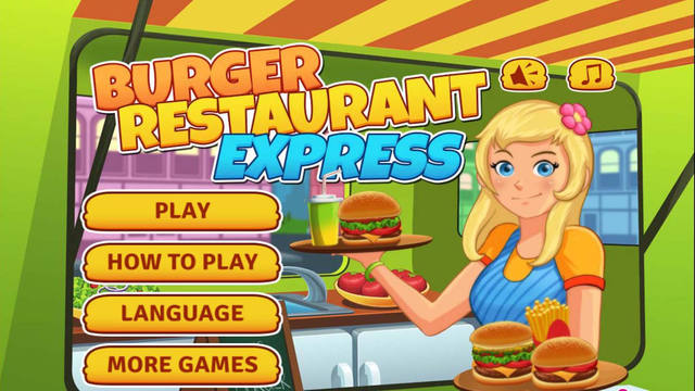 Burger Restaurant Express Fun