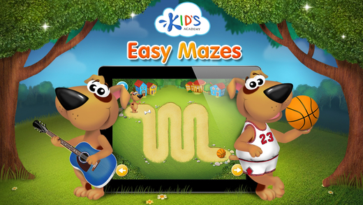 Easy mazes for toddlers - my first workbook by Kids Academy