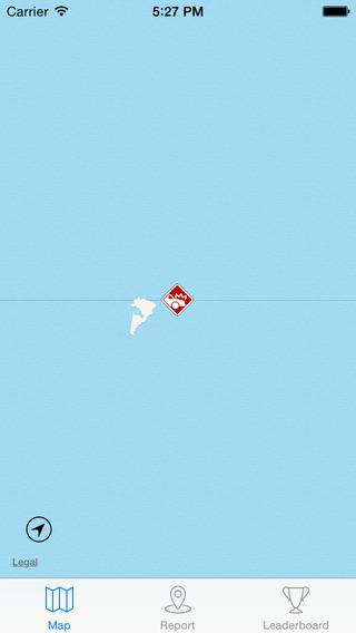Autóroncs-jelző térkép