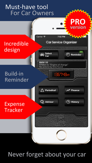CarSO Pro - Car service and finance manager organizer