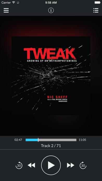 Tweak: Growing Up on Methamphetamines by Nic Sheff UNABRIDGED AUDIOBOOK