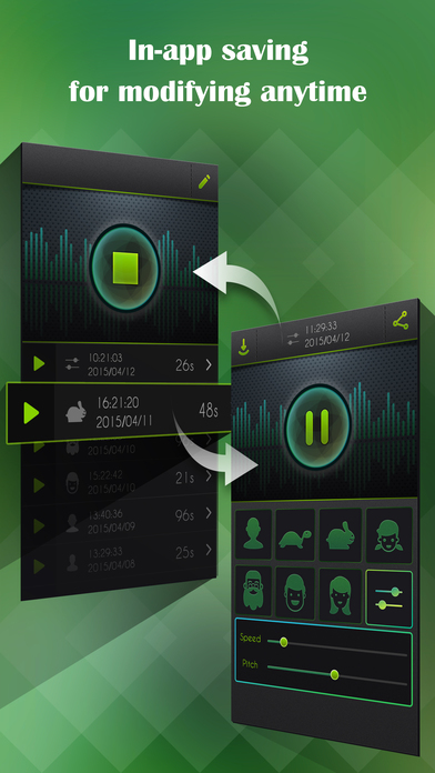 Screenshots of Voice Changer, Recorder plus Player for iPhone