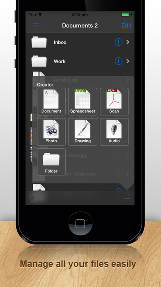 Documents Pro 7: FREE Office Word Excel File Manager for Dropbox Box OneDrive iCloud and Google Docs