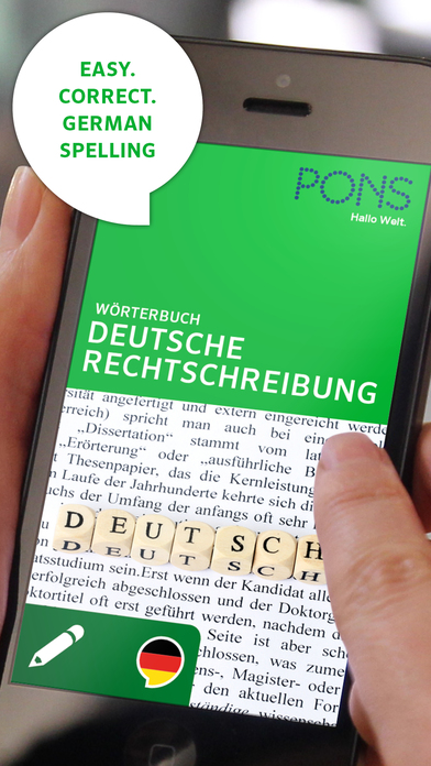 PONS German Spelling Dictionary iPhone Screenshot 1