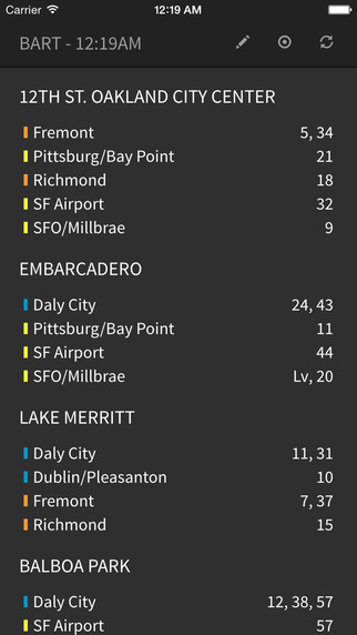 BART Real Time Departures - No Ads