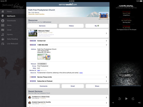 SermonAudio iPhone Edition iPad Screenshot 2
