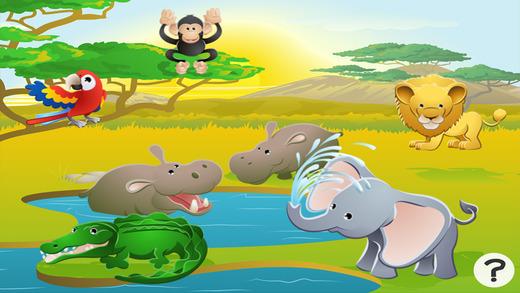 活动! 游戏有关野生动物园儿童: 学习和娱乐 动物