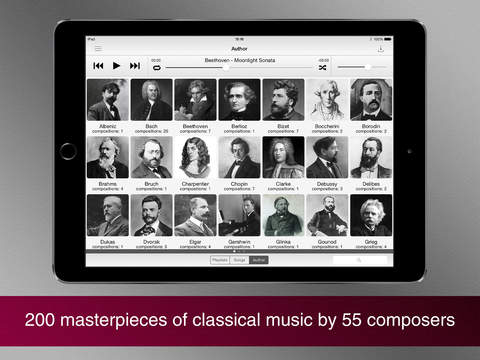 Screenshot #1 for Masterpieces of classical music.