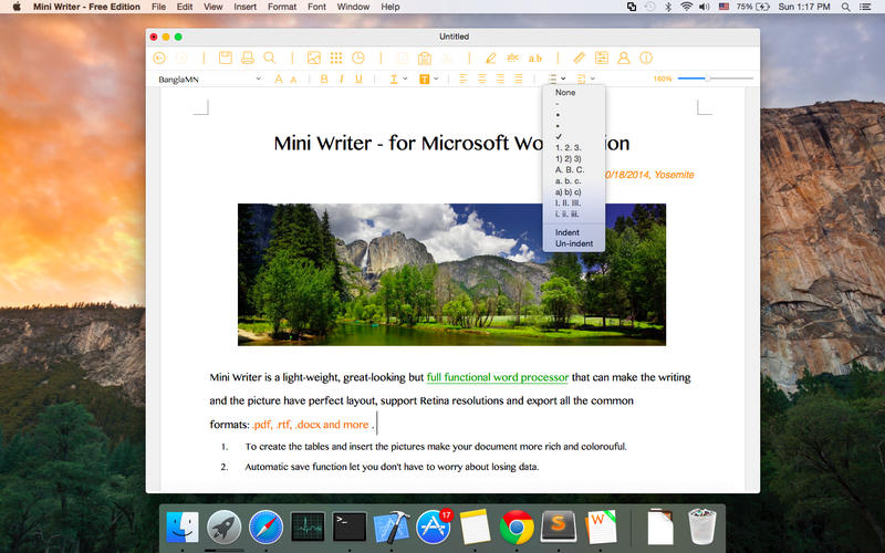 Mini Writer - Free Edition Screenshot - 1