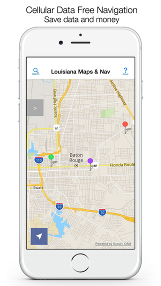 Louisiana Offline Maps Offline Navigation
