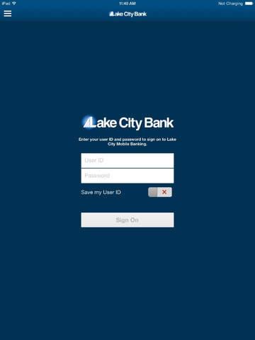 Lake City Mobile Banking for iPad