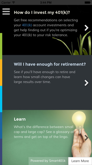 Smart401k Calculator – Easy Advice for your 401k Retirement Investments