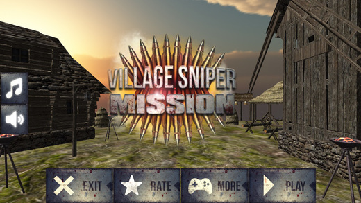 Village Sniper Mission- fps sniper gun action against in themed environments against enemy soldiers