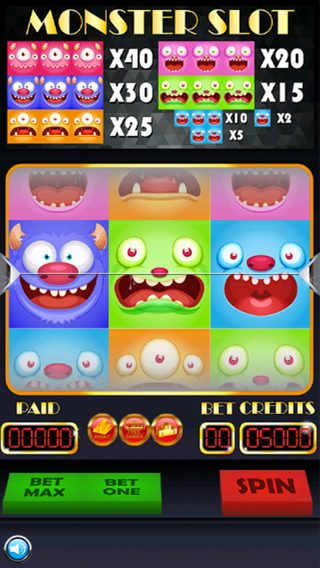 Candy Monster Slots - Spin and Win Super Jackpot With Funny Crazy Monster Slots Game