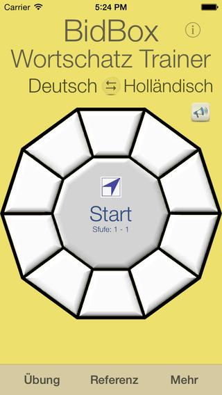 Vocabulary Trainer: German - Dutch iPhone Screenshot 1