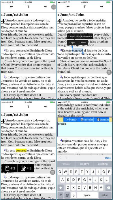 Spanish(Reina Valera)/English reference Bible iPhone Screenshot 3