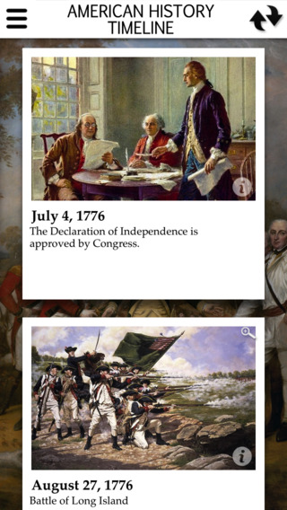American History Interactive Timeline