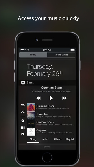 Forward - Quickly Access Music Library Playlist with Widget