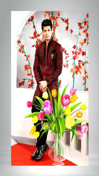 Flower Stickers-photo frame free make wonderful flower world