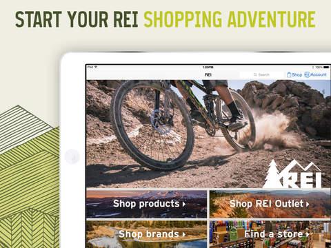 REI for iPad – Shop Outdoor Gear