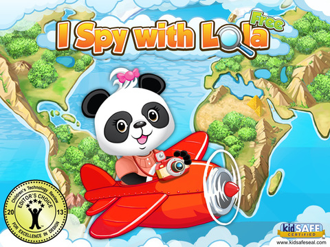 I Spy With Lola HD FREE: A Fun Word Game for Kids