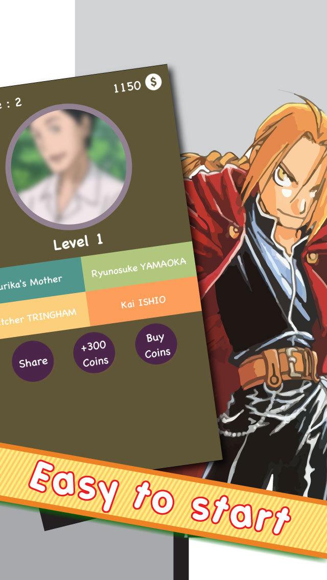 Anime Character Quiz Game : Drama manga quiz popuplar anime character trivia game