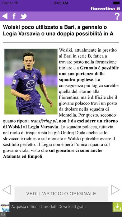 Fiorentina.it iPhone Screenshot 3