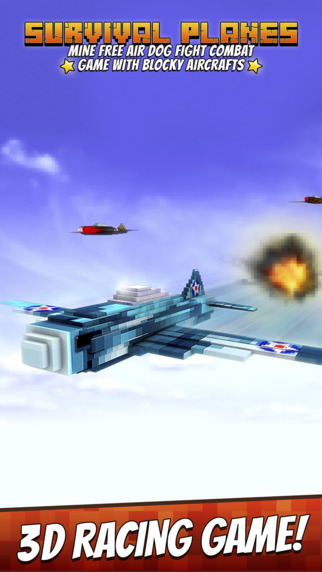 Survival Planes - Mine Free Air Dog Fight Combat Game with Blocky Aircrafts