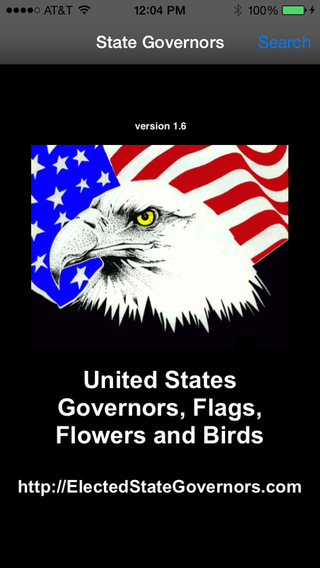 States Governors Flags Birds Flowers